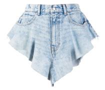 Jeans-Shorts mit Rüschen