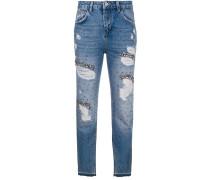 Verzierte Jeans mit Distressed-Optik