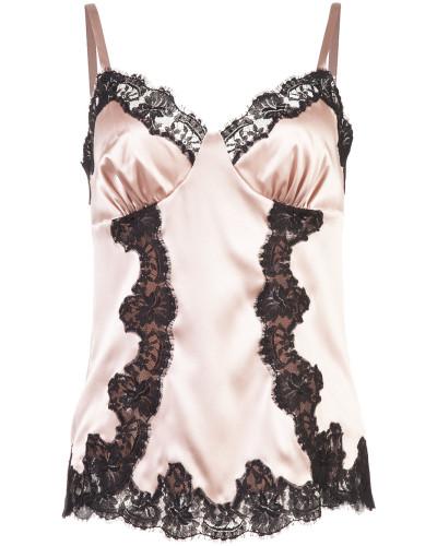 Camisole-Kleid mit Spitzendetails