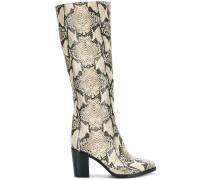 snakeskin design boots