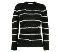 distressed knit jumper
