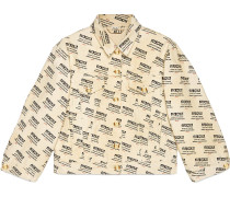 Jacke aus Denim mit  Stamp-Druck