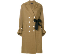 double buttoned trench coat