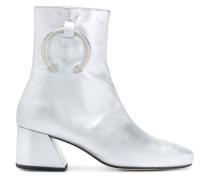 metallic pierced boots