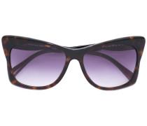 Oversized-Sonnenbrille mit Kontrastbügeln