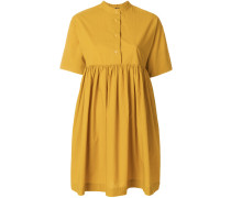 flared short-sleeve dress