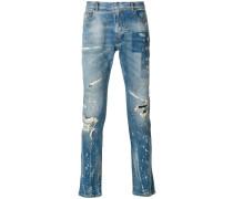Jeans mit Pinselstrich-Print