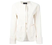 collarless layered blazer