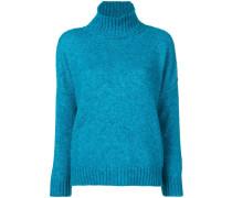 ribbed oversized turtle neck sweater