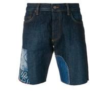 reworked denim shorts
