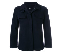 notched collar coat