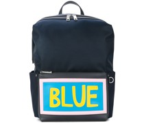'Blue' Rucksack mit Slogan