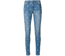 Skinny-Jeans mit Punkten