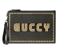 'Guccy' Clutch aus Leder