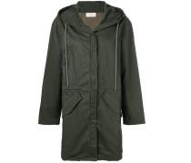 loose fit parka coat