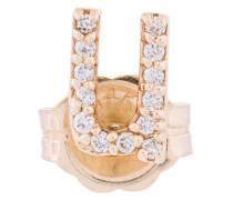 14kt 'U' Goldohrstecker mit Diamanten