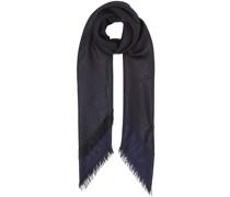 metallic monogram large square scarf