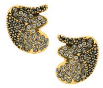 Metallische Ohrringe mit Kristallen