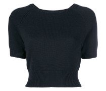 cropped knitted top