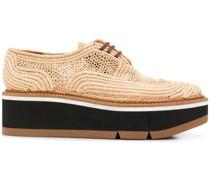 Derby-Schuhe aus Raffiabast