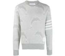 Jacquard-Sweatshirt mit Delfinen
