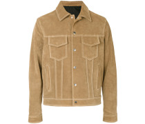Wildleder-Jacke mit Brusttaschen