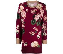 Geblümter Intarsien-Pullover