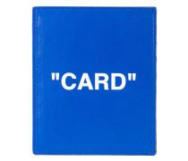 """Kartenetui mit """"Card""""-Print"""