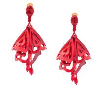 Impatiens large clip-on earrings