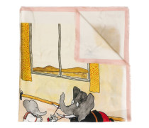 'Babar The Elephant' Schal mit Print