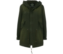 slim fit midi parka