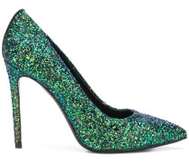 high heel glitter pumps