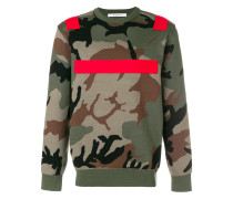 colour-block camouflage sweater