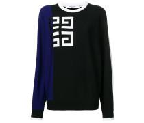 Pullover mit Kontrast-Logo