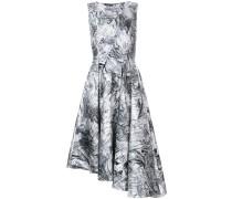 Asymmetrisches Kleid mit Marmor-Print
