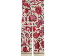 Seidenhose mit Blumen-Print