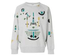Mechanic print sweatshirt