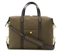 Reisetasche mit Lederbesatz