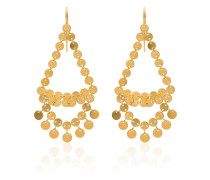 Dancing sequins chandelier earrings