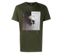 T-Shirt mit verziertem Totenkopf