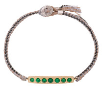 14kt gold 7 Emerald Bar Bracelet