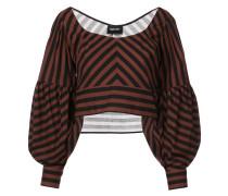 Cropped-Bluse mit Oversized-Ärmeln