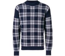 knitted check sweater