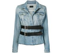 Jeansjacke mit doppelter Schnalle