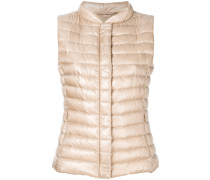 cropped padded gilet
