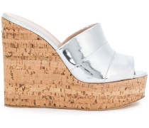 Wedge-Pantoletten in Metallic-Optik