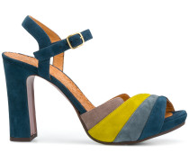colour-block open-toe sandals