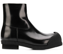 rubber toe ankle boots