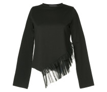 pleated-hem fitted top