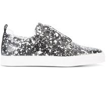 Slip-On-Sneakers mit Farbklecks-Print